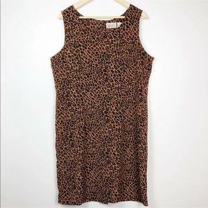 Kathie Lee Collection Dress Leopard Animal Print